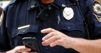 police officer on smartphone